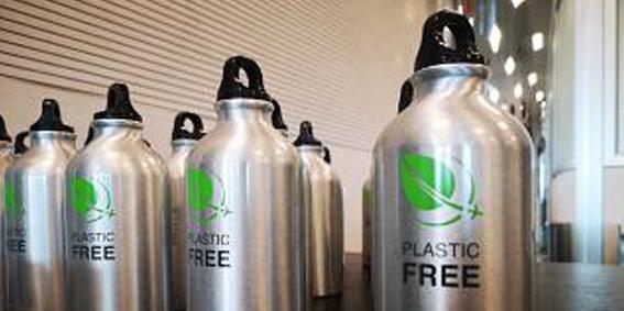 """L'aereoporto Galilei diventa """"plastic free"""""""